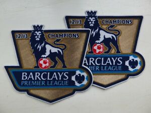 2 Manchester United Barclays Premier League Champions 12 13 Shirt Sleeve Patches