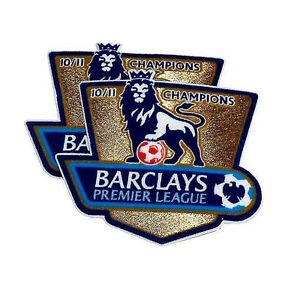 2 Manchester United Barclays Premier League Champions 10 11 Shirt Sleeve Patches