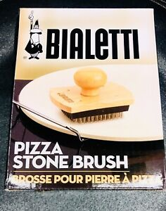 Bialetti Wooden Pizza Stone Cleaning Brush 07329 Stainless Steel Bristles