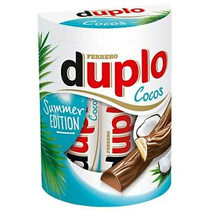 Ferrero DUPLO COCONUT Chocolate bars- Made in Germany FREE SHIPPING