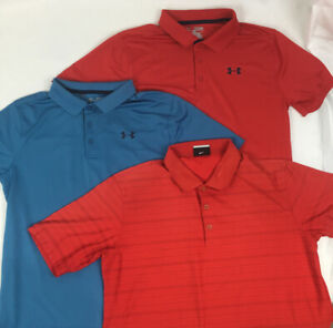 Lot Of 3 Athletic Polo Shirts Under Armour Nike Youth XL Boys $29.97