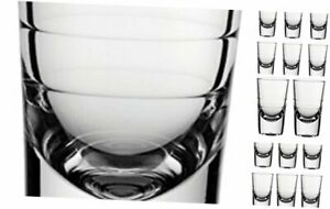 Circleware 42794 Bull Shot, Set of 6, 2.7 ounce, Clear Heavy Base Glassware