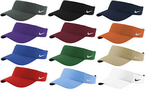 Nike Dry Dri FIT Swoosh Visor Mens Adjustable Strapback Cap Authentic Hat Golf $21.99