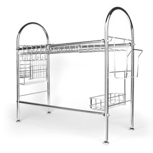 26.77quot; Stainless Steel Dish Drying Rack Over the Sink Kitchen Drainer Holder $37.98