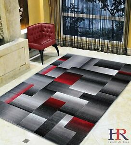 Abstract Area Rug Modern Contemporary Geometric Cube Rug Carpet For Office Home $94.90