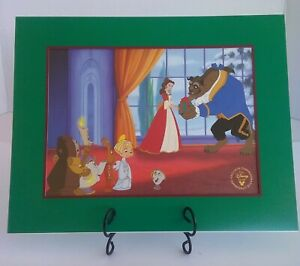 Beauty & The Beast Christmas Disney Store Exclusive Commemorative Lithograph