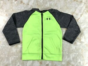 Boy's Under Armour Zip Up Hoodie Green and Gray Size 7 $16.99