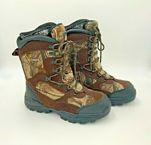 1000 Gram Thinsulate Ultra Waterproof Brown Camo Winter Hunting Boots Mens 9