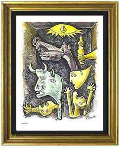 Pablo Picasso Signed amp; Hand Numbered Ltd Ed quot;Guernicaquot; Litho Print unframed $99.99