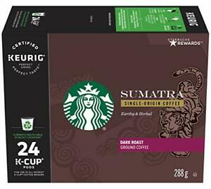 Starbucks Sumatra Coffee Dark Roast 96CT K-Cups for Keurig Best Before June 2020