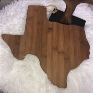 Totally Bamboo Cutting & Serving Board Destination Texas NWOT