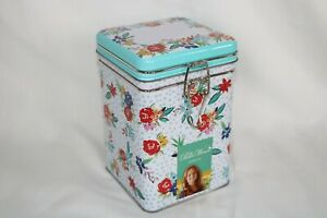 The Pioneer Woman Floral Lock Top Canister Tin