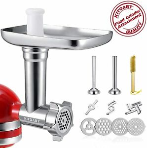 Metal Food Grinder Attachments for KitchenAid Stand Mixers, Durable Meat Grinder