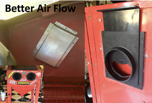 Harbor Freight Sand Blast Cabinet Air Flow Upgrades =1 baffle 1 blast gate