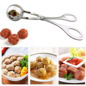 Meatball Maker Spoon Non Stick Thick Stainless Steel Meat Baller Kitchen Q1E
