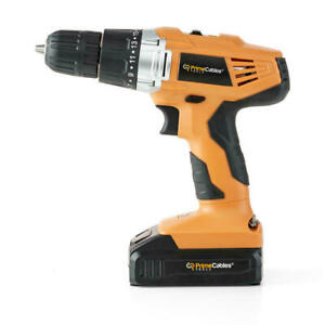 20V Cordless Power Drill with Soft Grip Handle For Home Tool set