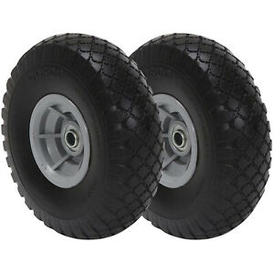 2-pack CoscoProducts COSCO 10-Inch Flat-Free Replacement Wheel for Hand Trucks