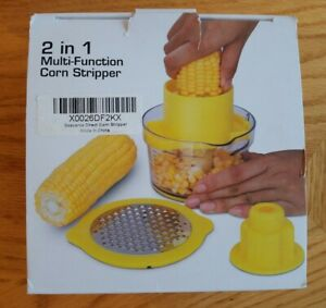 Corn Stripper and Fruit Vegetable Chocolate Garlic Ginger Grater 2 In 1 Stripper