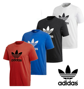 Adidas Men's Short Sleeve Trefoil Logo Graphic T Shirt Mens Active Wear Sport $17.69