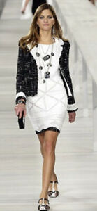 $4200 CHANEL 04p Crochet 34 36 38 2 4 6 Midi DRESS Shirt Top Swim M S Jacket