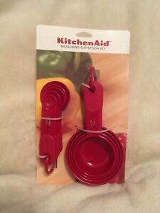 KitchenAid Red Measuring Cup and Spoon Set - 9 Piece - Brand New