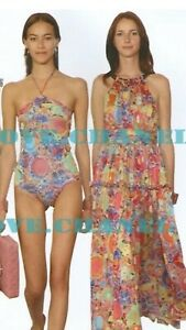 3k CHANEL 08p Print SWIM Swimsuit Cover Up Mini Top DRESS 34 36 38 40 2 4 6 8 M