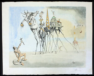 Exceptional & Large Salvador Dali Etching on Japon (Rice Paper) Hand Signed