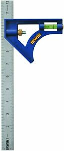 IRWIN Tools Combination Square, ABS-Body , Blue , 12-Inch (1794470)