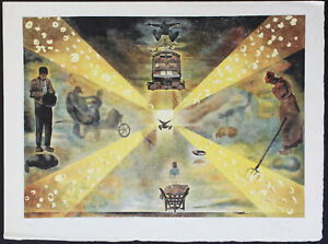 Exceptional & Large Salvador Dali Lithograph on Japon (Rice Paper) Hand Signed