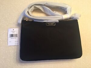 Kate Spade Triple Gusset Crossbody, Black, NWT, Lovely And Classic