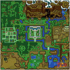 Nintendo Zelda Link to the Past Light World Map 24x24 Video Game Giclee Poster $24.99