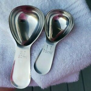 NEW Stainless Steel Coffee Scoop Measuring Spoon Baking Kitchen Tool USA SELLER