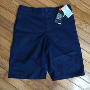 NWT UNDER ARMOUR Boys Bermudas Golf Shorts Loose Fit Sz Youth 16 MSRP $40 U20 $17.95