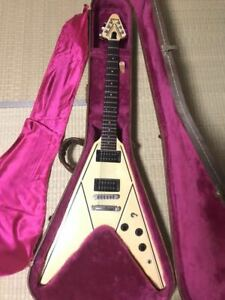 Vintage 1984 Gibson Electric Guitar Flying V Designer Series With Hard Case
