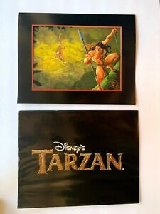 Disney TARZAN EXCLUSIVE COMMEMORATIVE LITHOGRAPH with Brown Packaging