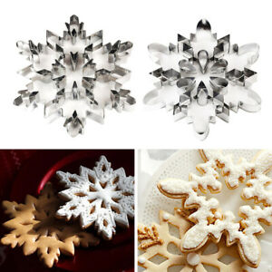 Stainless Steel Snowflake Cookie Cutter Biscuit Pastry Cake Mold Baking Tool Foy