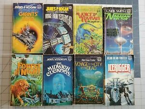 Lot of 8 Vintage Science Fiction Paperback Books Del Rey PB Novels SF