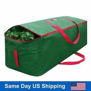 Green Christmas Tree Storage Bag Deluxe Large Holiday Up to 9 Ft Trees w Handles $15.89