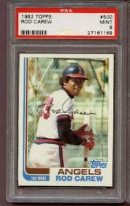 PSA 9 1982 Topps Baseball Rod Carew # 500 HOF