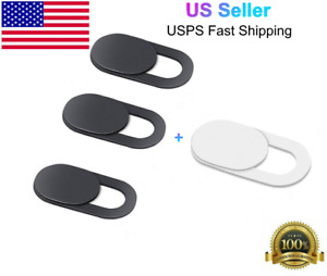 4 PCS WebCam Cover Slide Camera Privacy Security Protect Sticker for Most Device $1.99