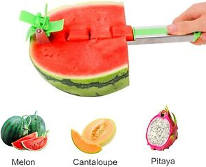 Windmill Watermelon Slicer Cutter Stainless Steel Knife Fruit Vegetable Tool