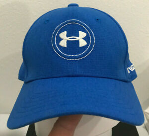 Under Armour UA Golf Boy's S M Youth Blue UA White Logo Spieth Tour Fitted $21.99
