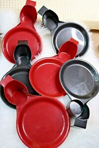 Picnic Tailgate Party BBQ Family Gathering Cup Plate Holders SET 6 Black and Red