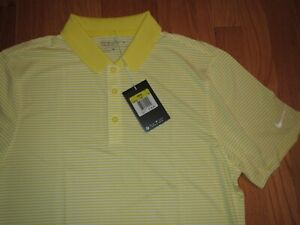 Men's Nike Dri Fit Golf Polo Shirt Yellow Size Small **NEW** $29.95