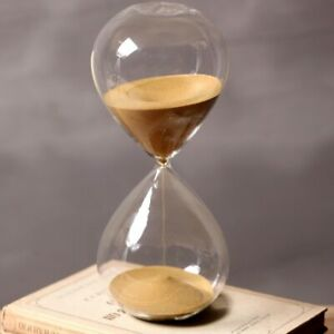 60 Minutes Timing Hourglass 24cm Height Golden Sand Glass Sand Timer Home Decor $75.19