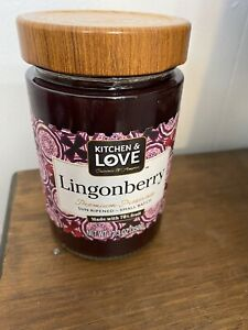 Kitchen amp; Love Lingonberry Premium Preserves Sun Ripened 70% Fruit Jam