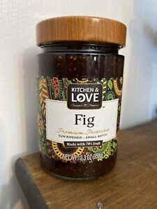 Kitchen amp; Love Fig Premium Preserves Sun Ripened 70% Fruit Small Batch Jam