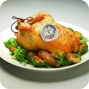 Good Cook Meat Precision Thermometer Stainless Steel 25117 with temperatur chart