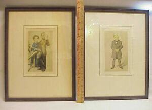 2 Antique Lithographs Pierre Marie Curie Rudolf Virchow Julius Mendes Price IMP $49.99