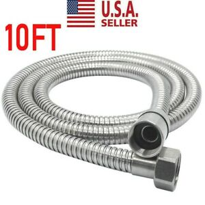 10Ft Shower Head Hose Extra Long Stainless Steel Hand Held Bathroom Flexible US